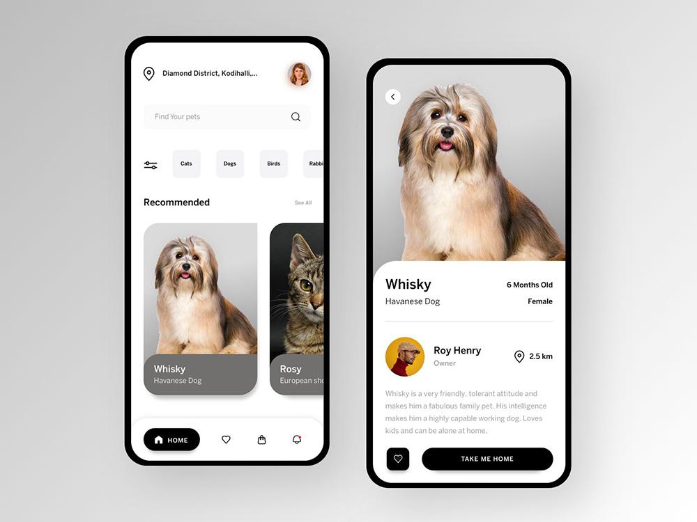 12款宠物相关的App界面设计