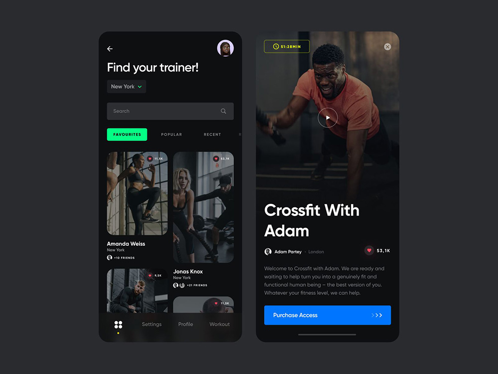 一起来运动吧!12组运动健身APP页面设计