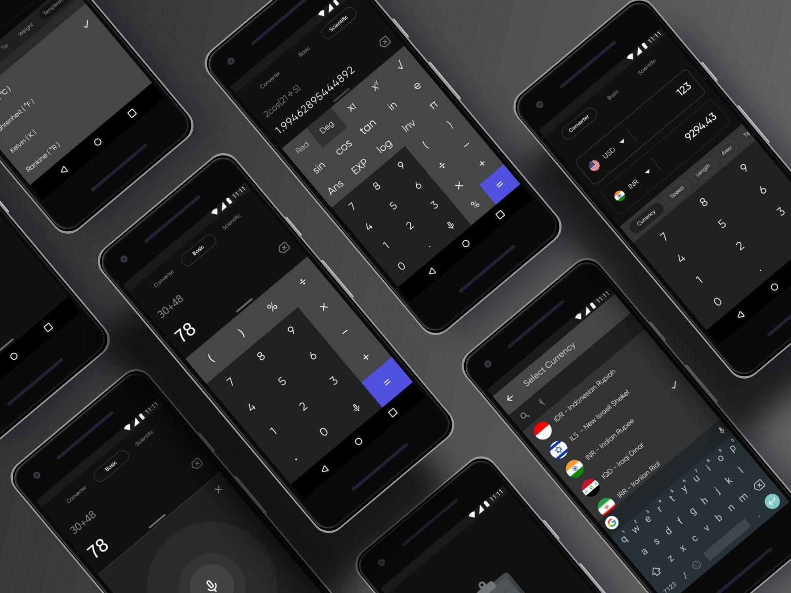 手机必备!12组计算器界面设计