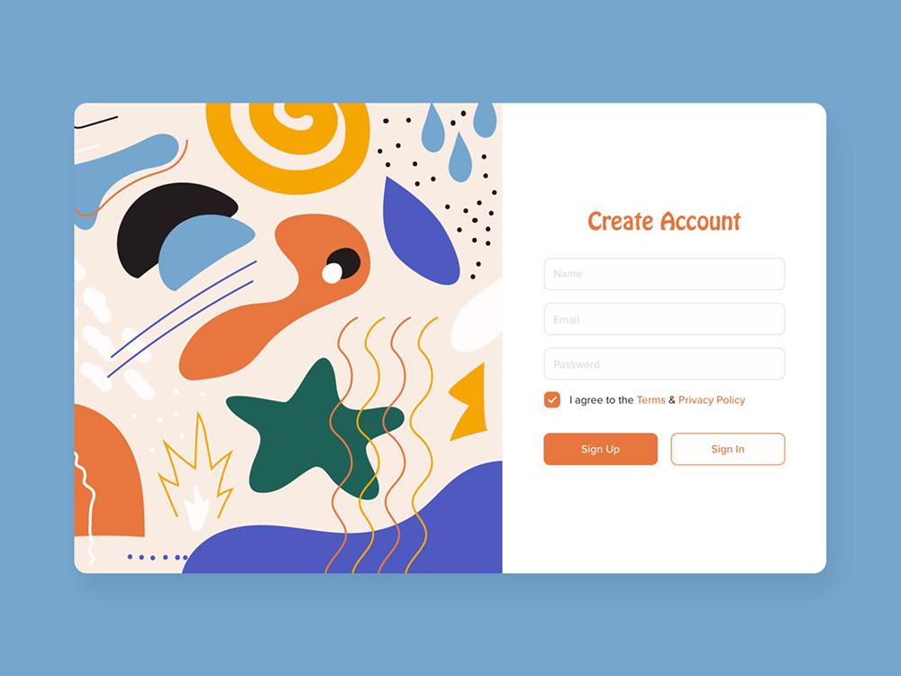 12款注册登录界面设计灵感