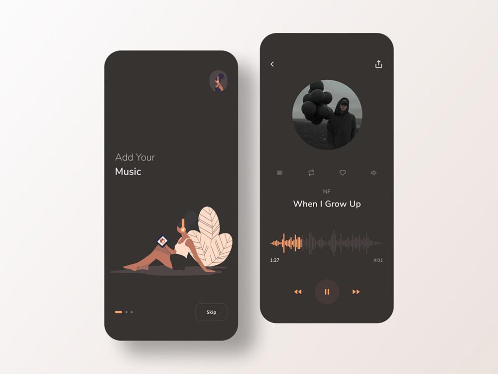 音乐播放器App界面如何设计?