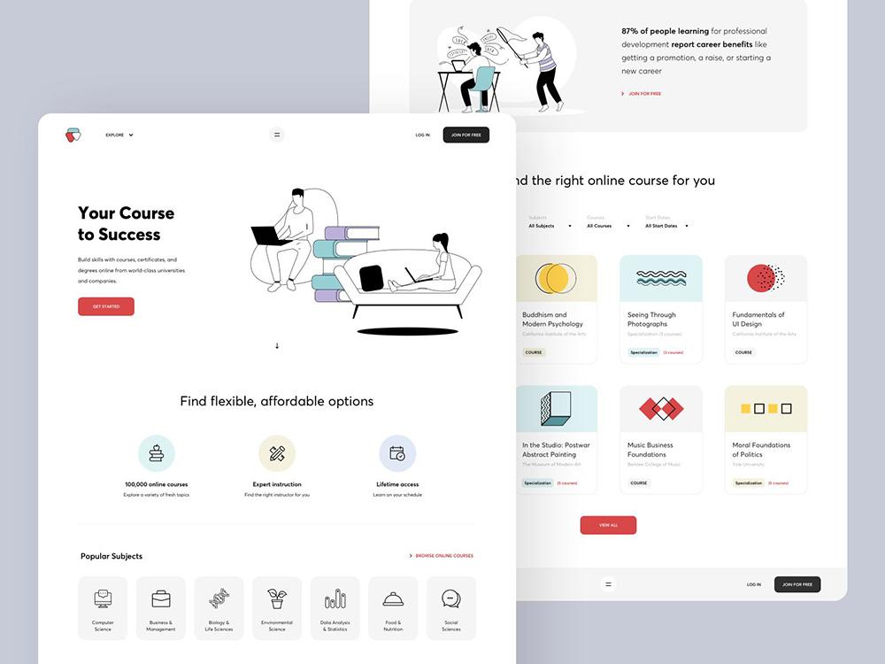 活到老学到老!12款在线教育网页设计