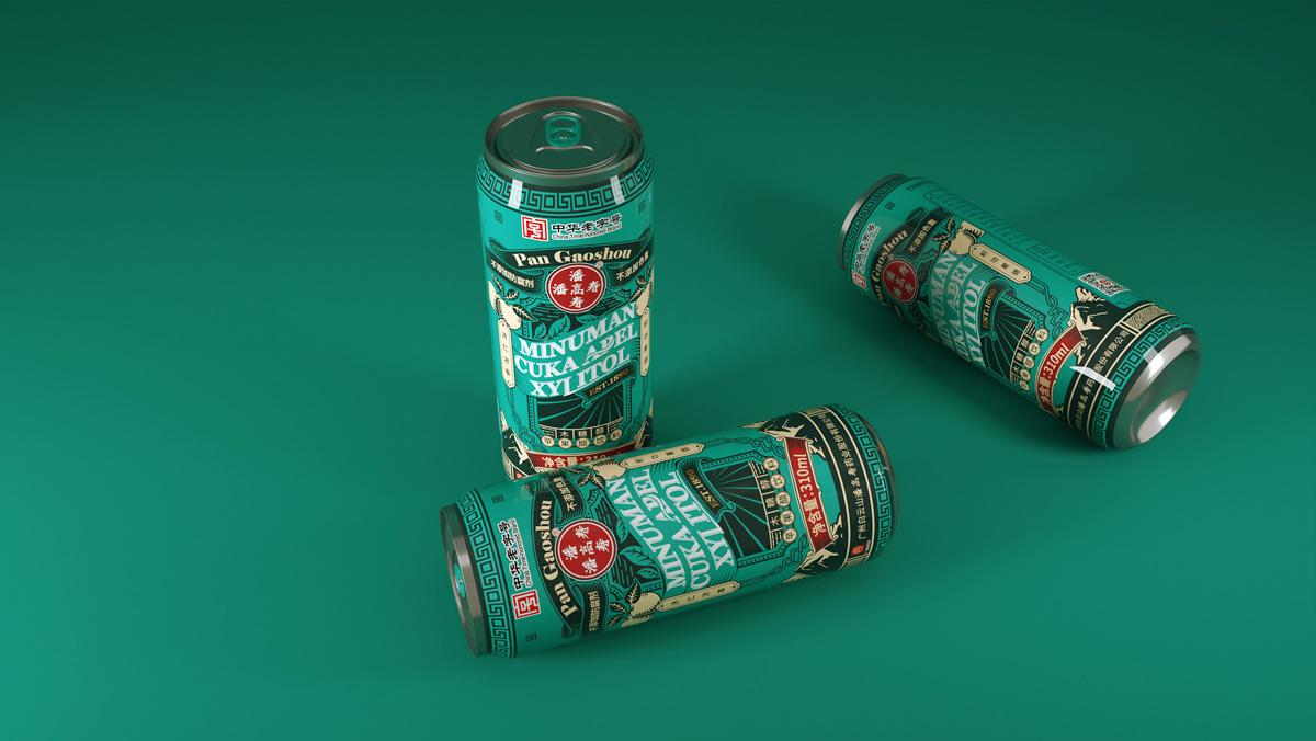 复古怀旧!饮品包装设计