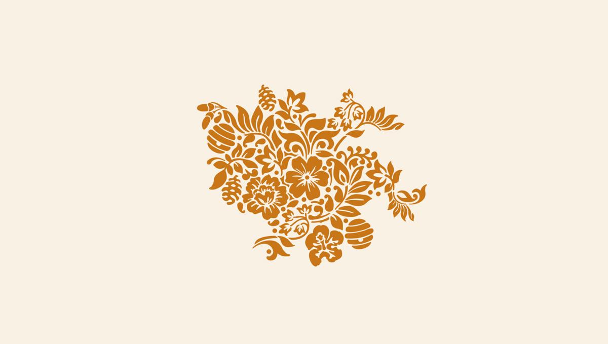 花卉图案!蜂蜜包装设计