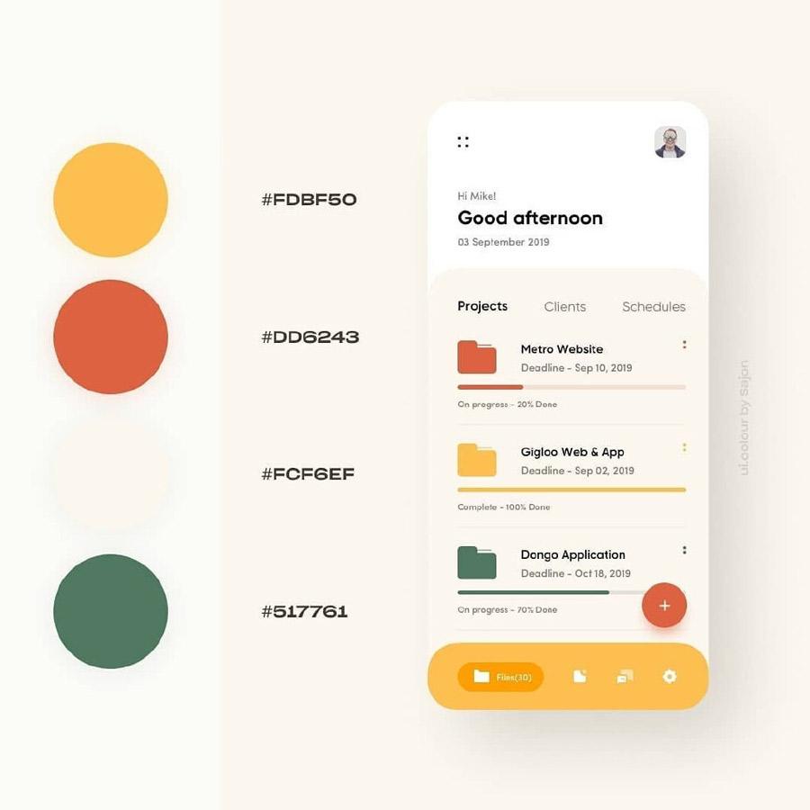 9款适合秋天的UI配色