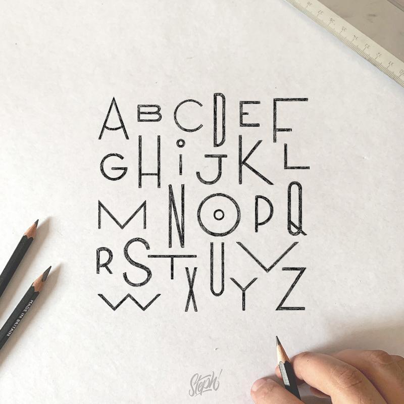 平面构成!18款趣味几何字体设计