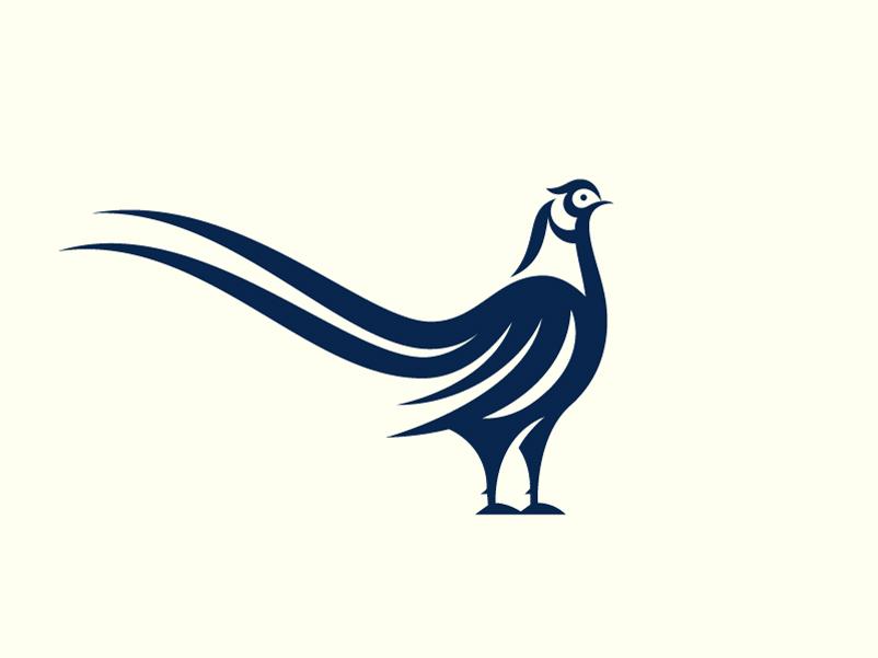 生命魅力!20款单色动物Logo设计