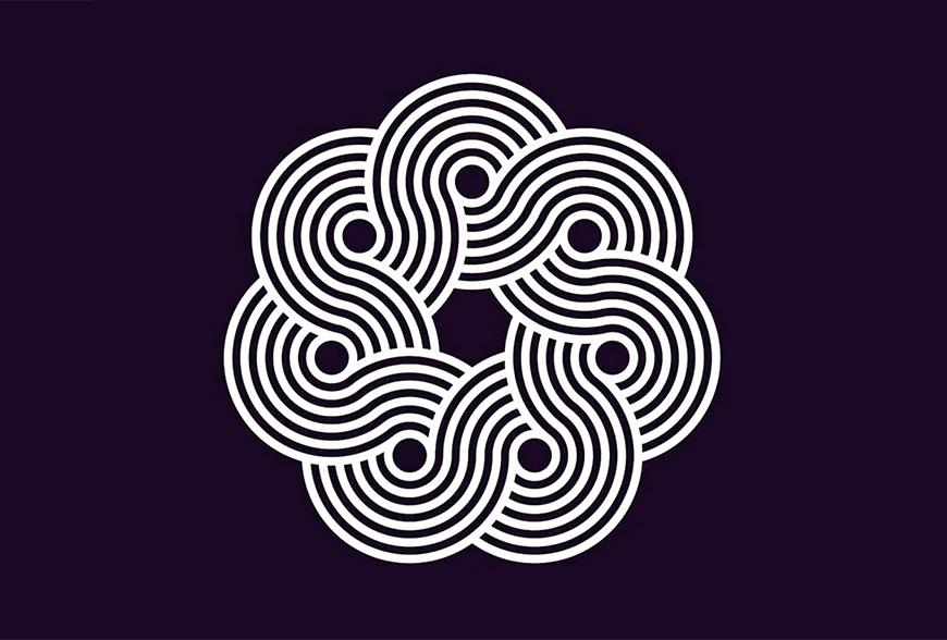 AI教程!教你绘制循环螺旋线条图案