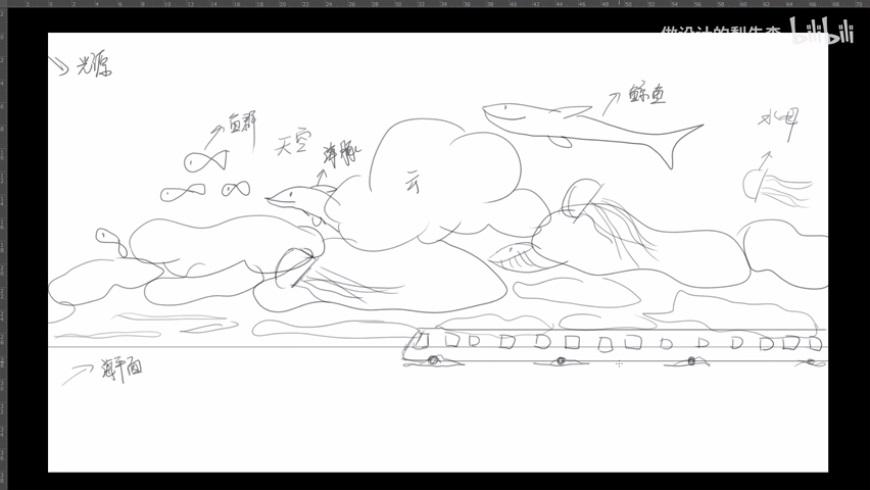 PS教程!「千与千寻」梦幻场景合成