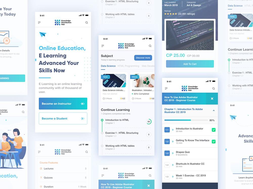 12组在线教育界面设计