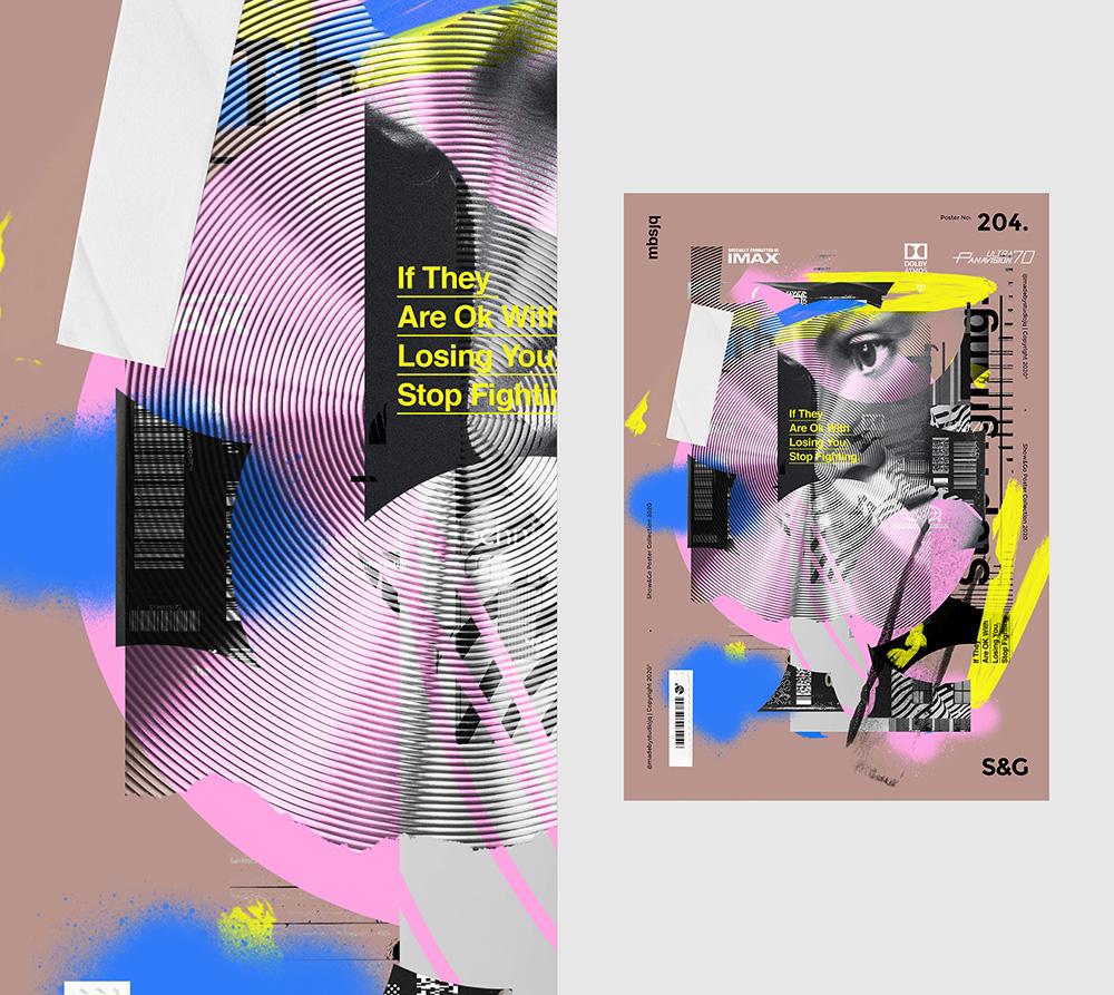 创意拼接!Studio—JQ ∆日常海报练习作品