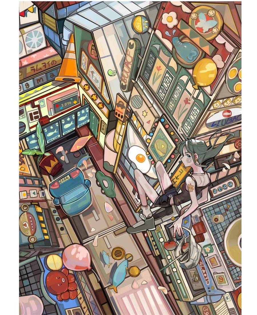 画中的故事!16款治愈系插画作品