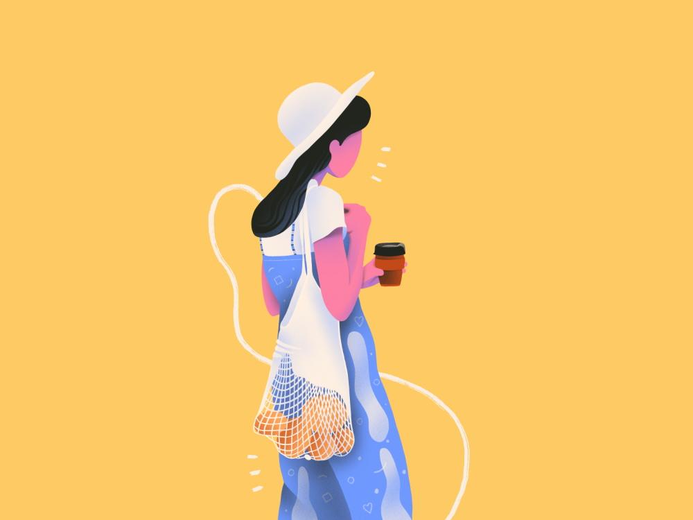 简洁时尚的14款矢量插画