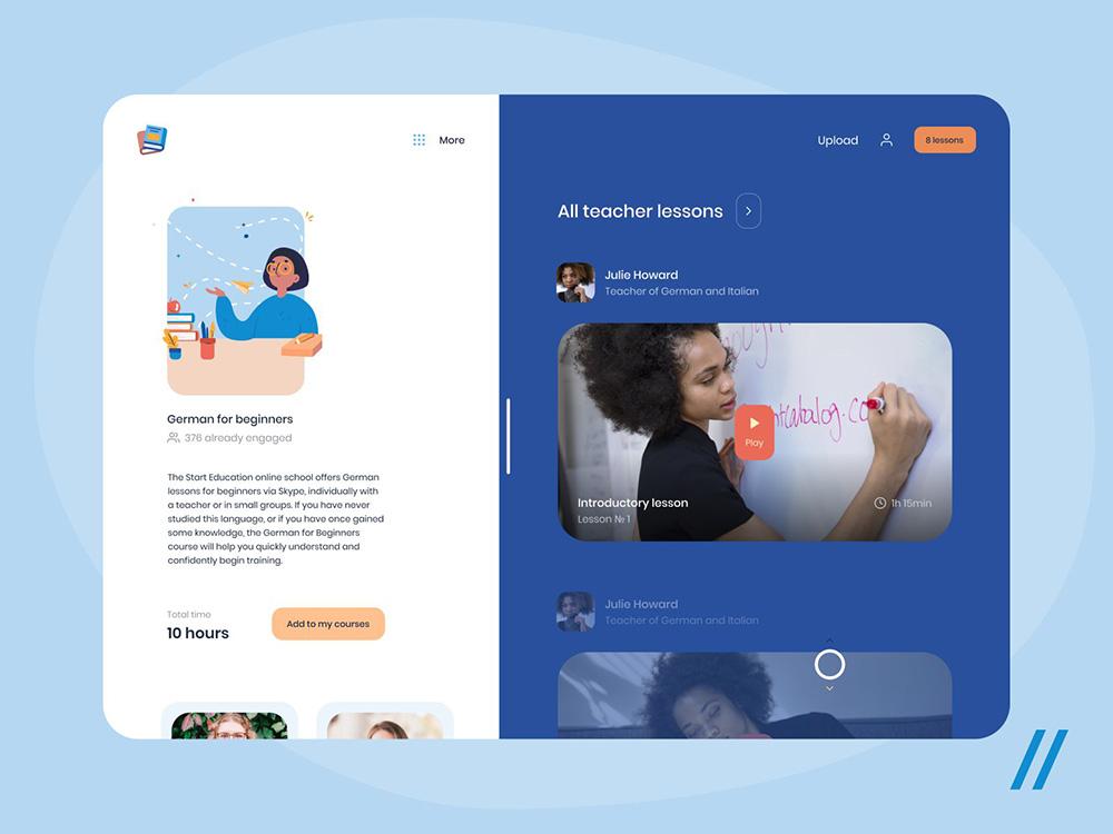 12款在线教育网页界面设计