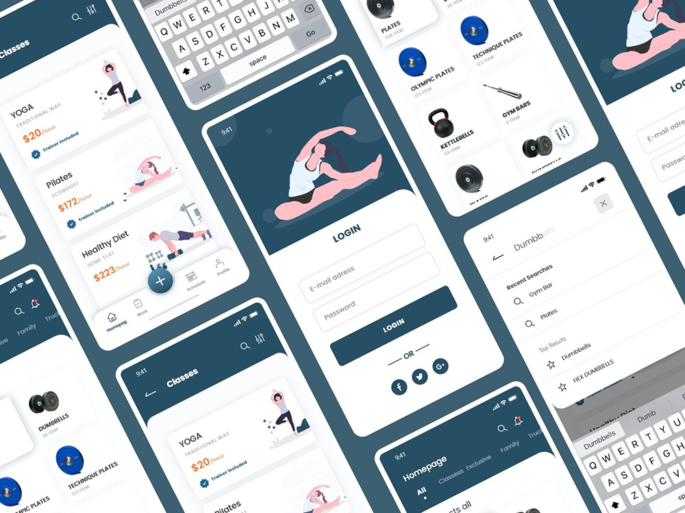 运动健身类App界面设计