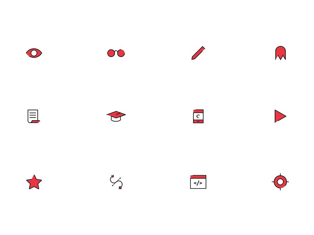 UI必备!12款不同形式的图标设计