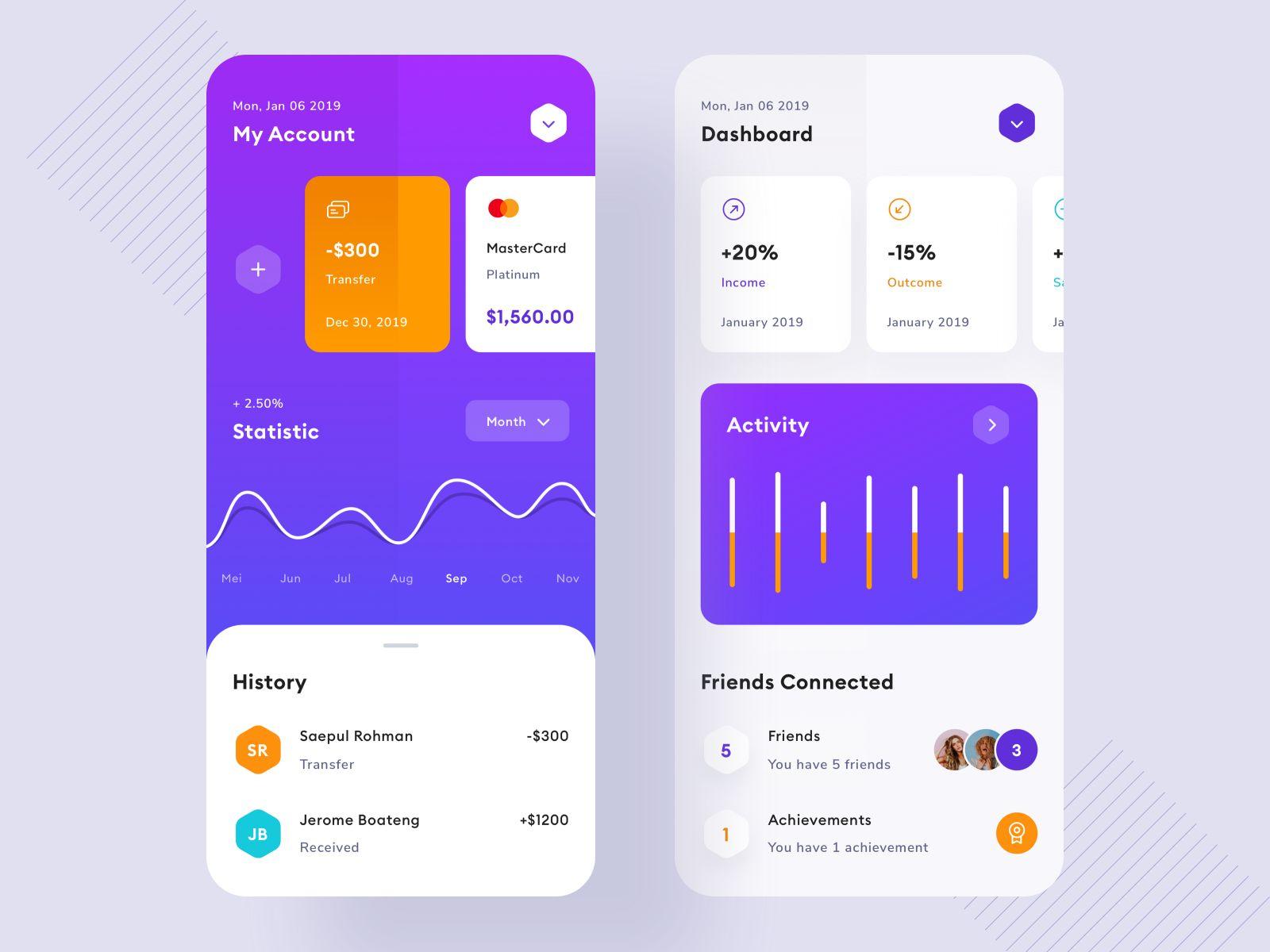 安全又貌美!12组银行金融类App界面设计灵感