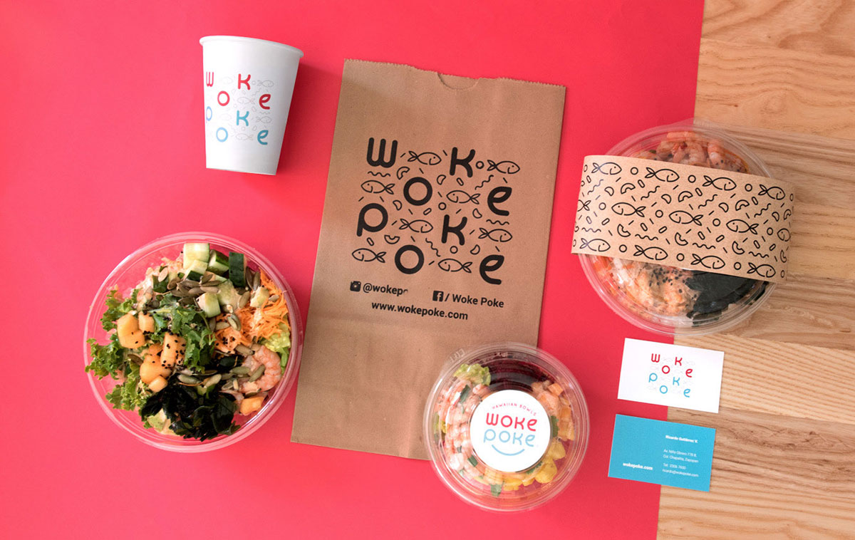 新鲜活泼!食品沙拉品牌VI设计
