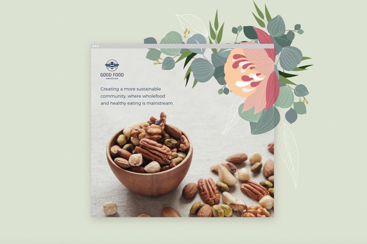 花卉插画!农产品包装设计