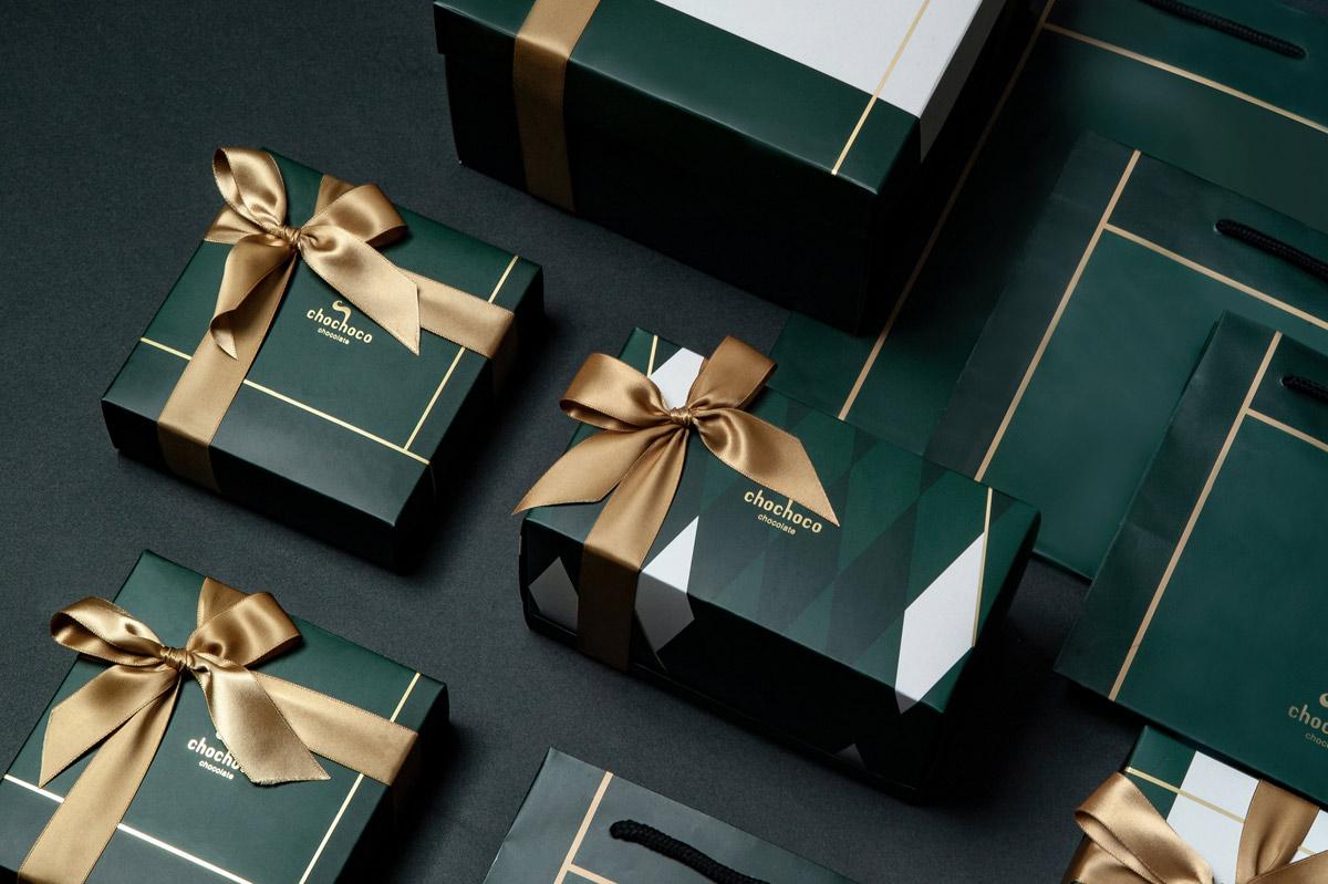高雅简洁!巧克力礼盒包装设计