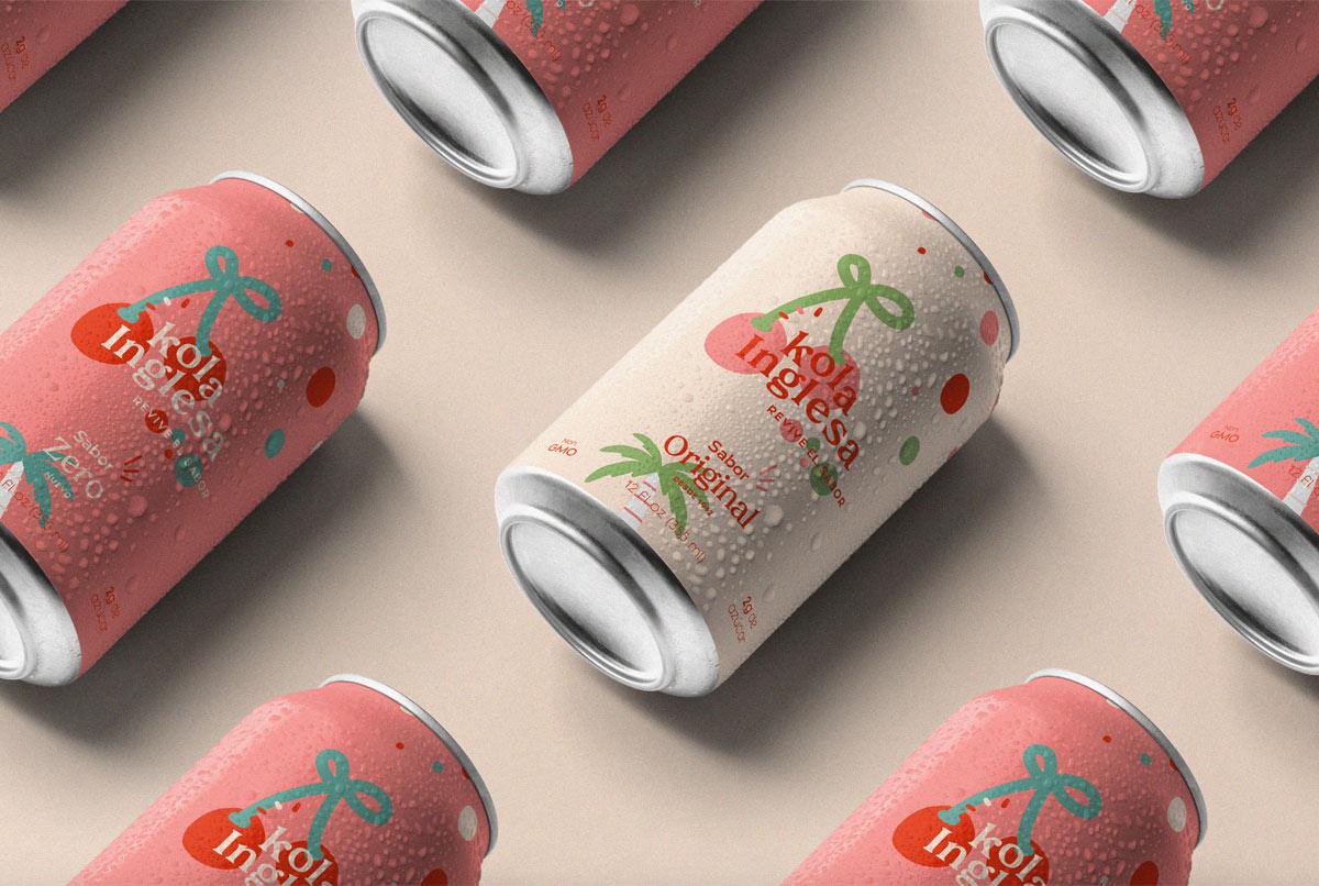 可爱樱桃!苏打水饮品包装设计