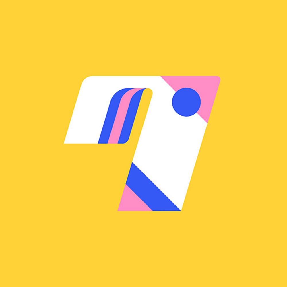 平面构成!36款几何结构字体设计