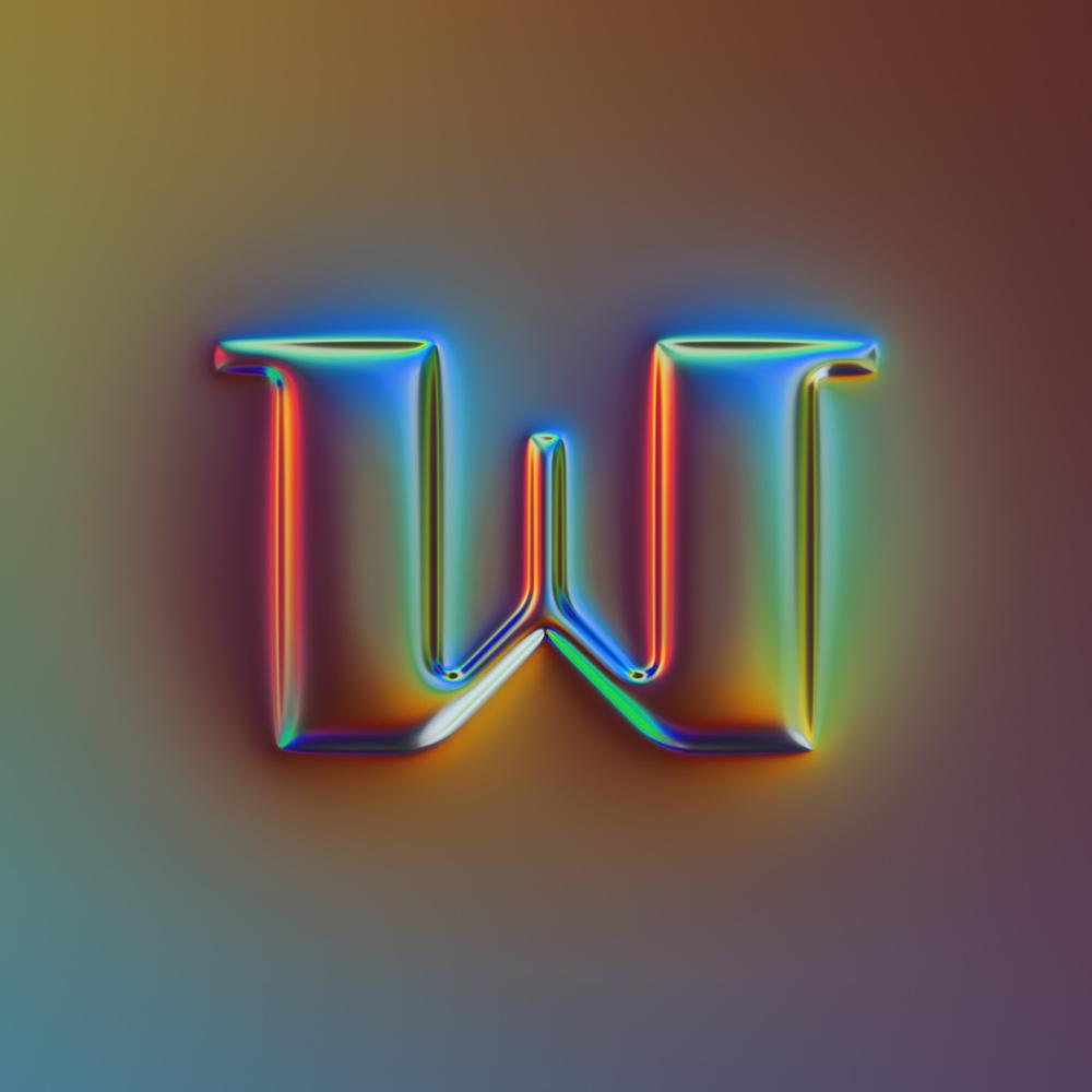 立体现代!39款金属质感字体设计
