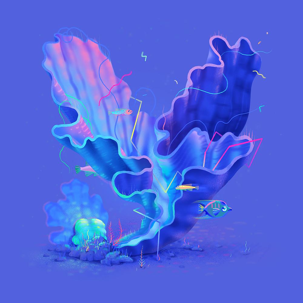 灵动生命!26款海洋生物字体设计