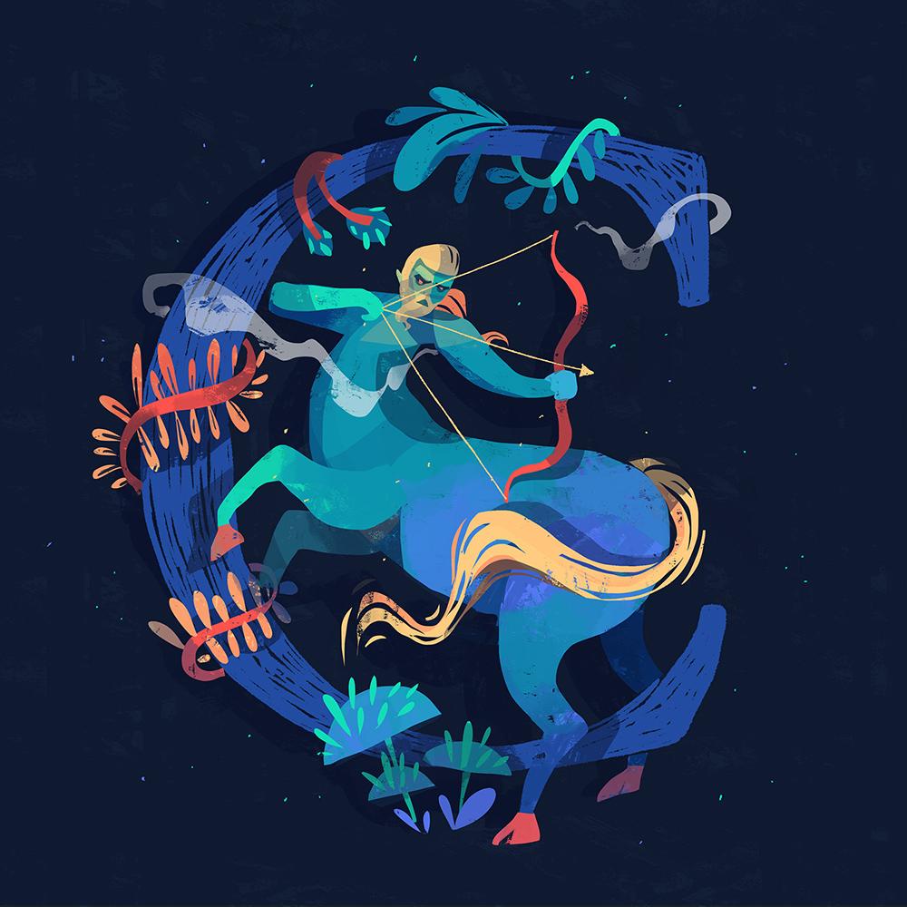 东南亚风!36款神话插画字体设计