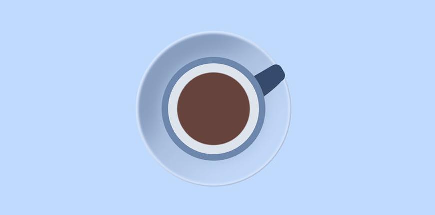 PS教程!教你绘制咖啡杯拟物图标!