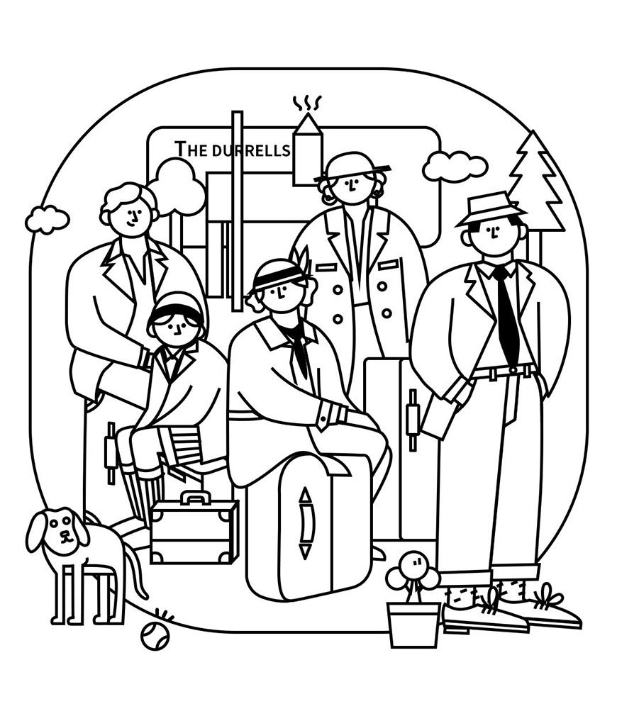 PS教程!深度实操详解全网流行的线性插画!