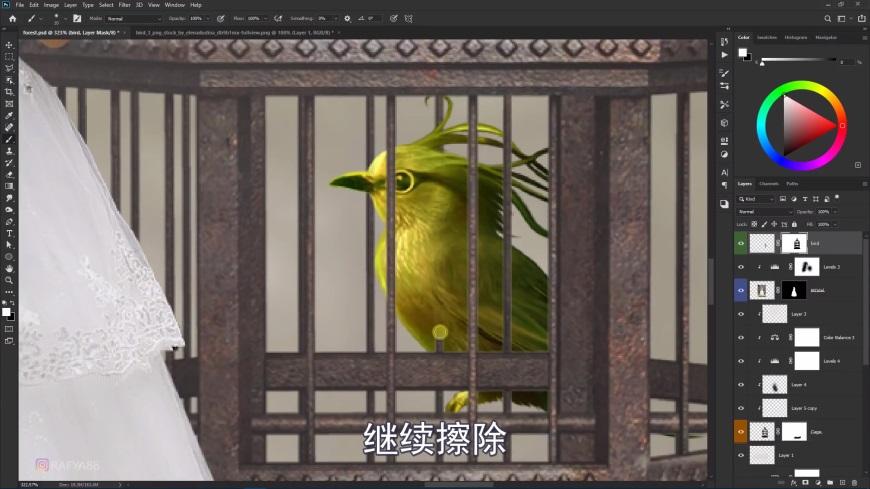 PS教程!林中新娘梦幻场景合成!(含素材下载)