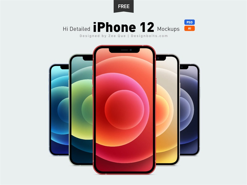 样机模板!23组苹果新品 iPhone 12、MacBook 系列样机模板