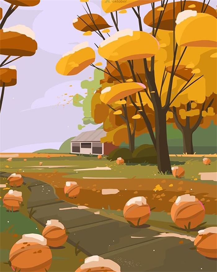 26款可爱的数码风景插图