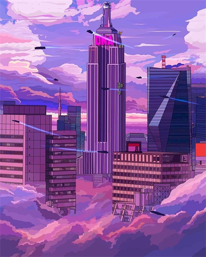 朋克风格!12款未来机械生活插画