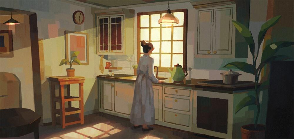 夕阳西下!12款色调很美的插画作品