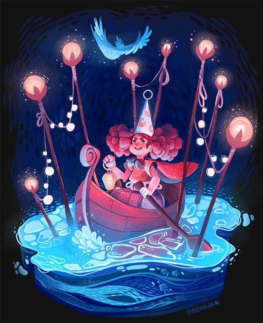12款暖色调童话插画
