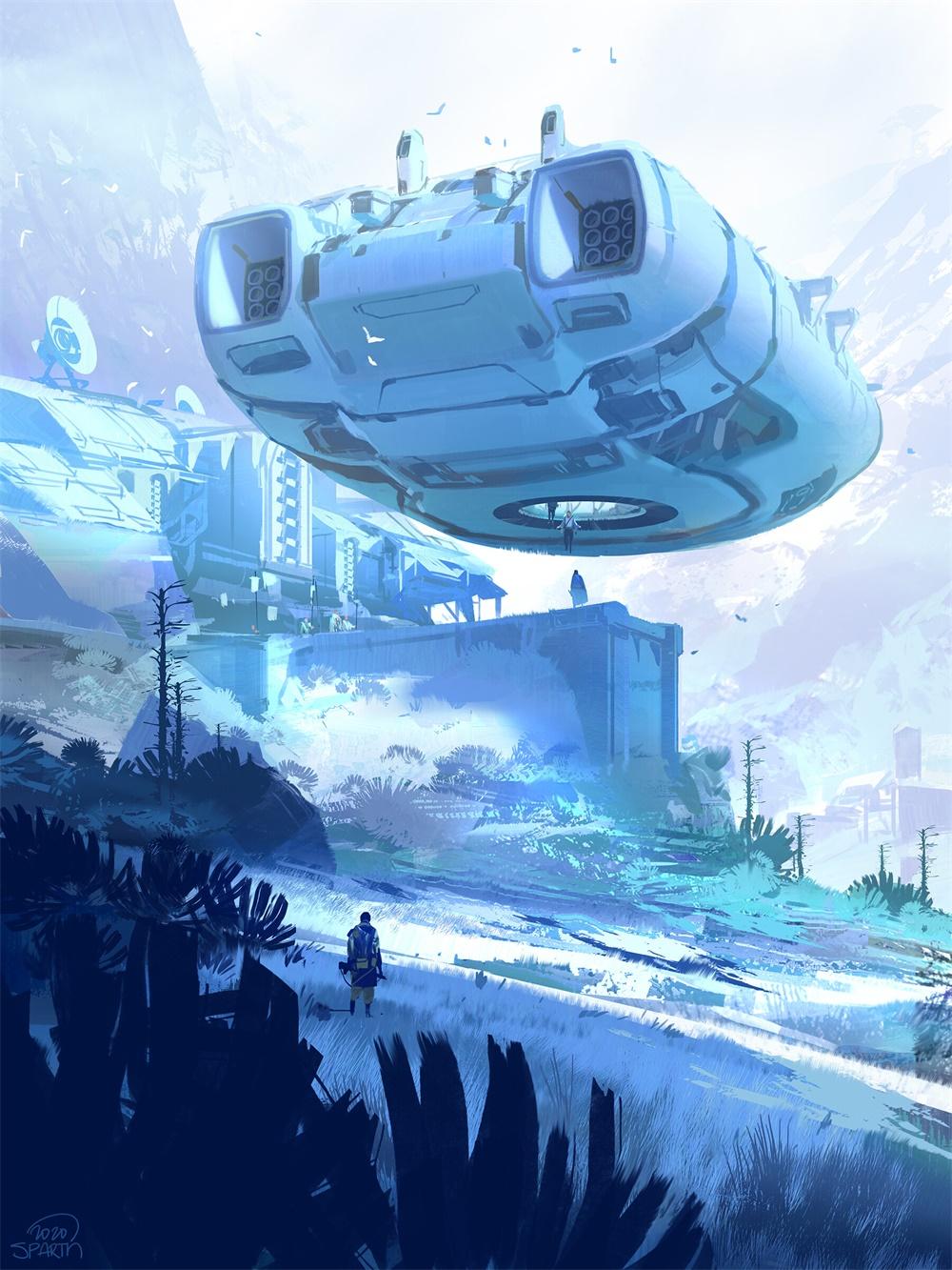 科幻题材!12款概念场景设计