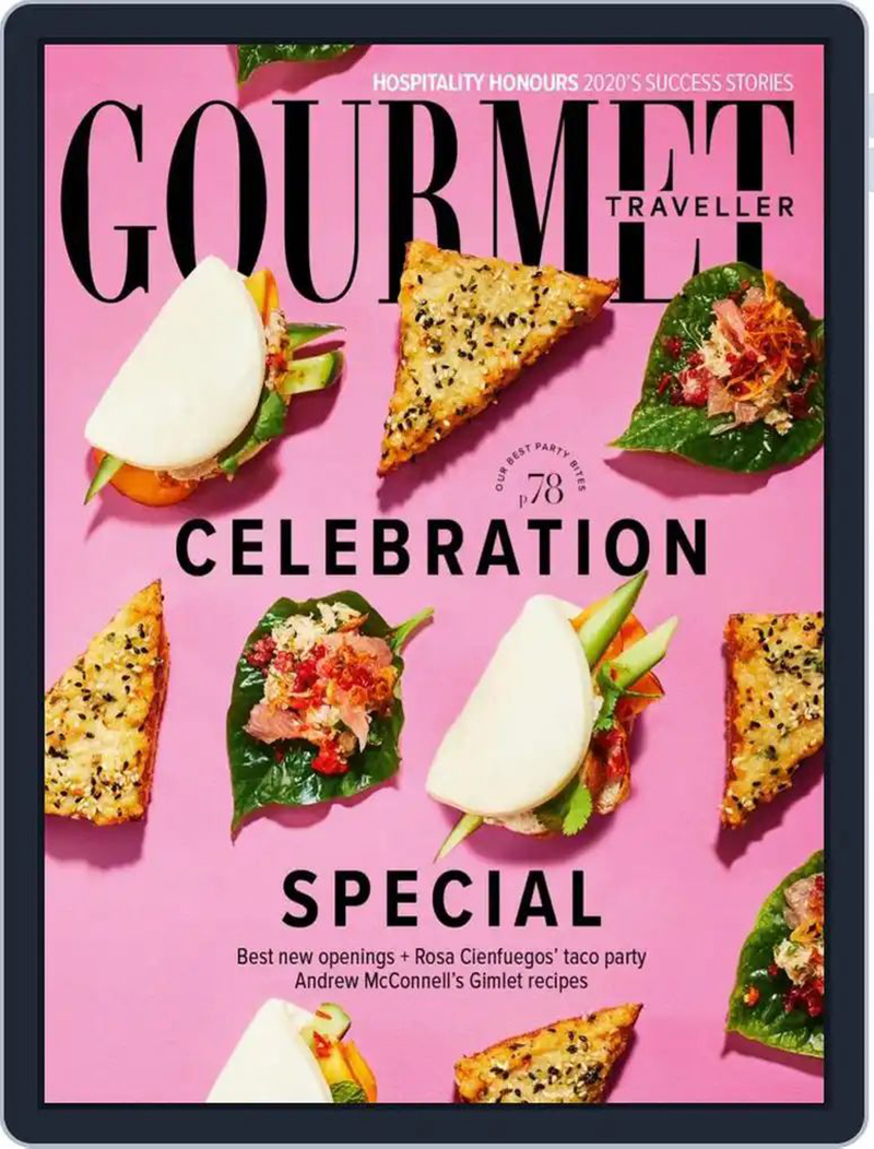 美食诱惑!《Gourmet Traveller》杂志封面设计
