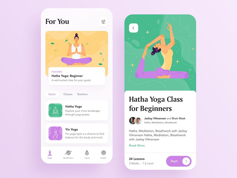 令人舒适!12组冥想App界面设计灵感