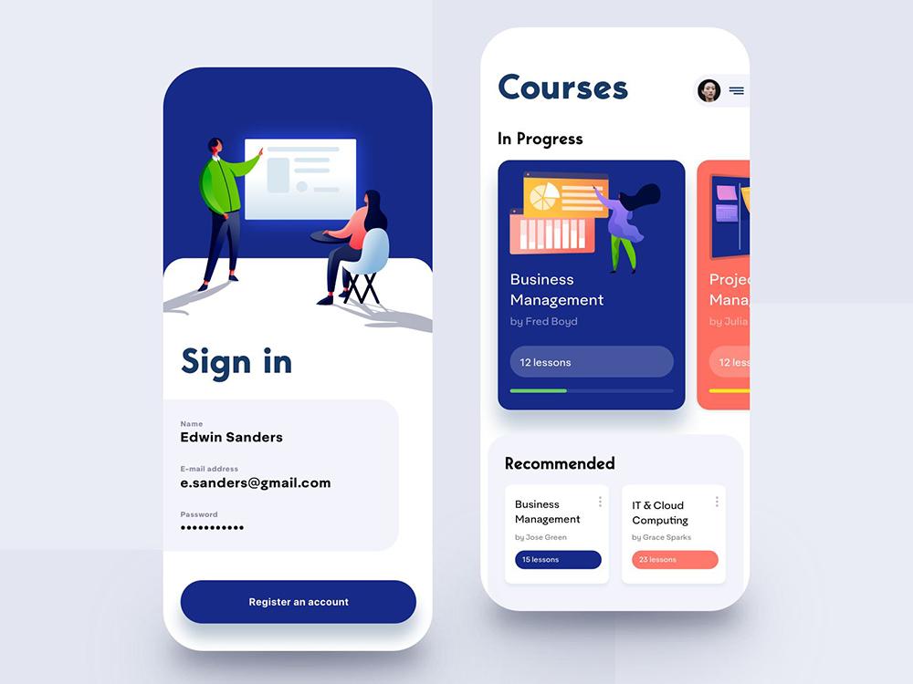 12组优质的在线教育界面设计