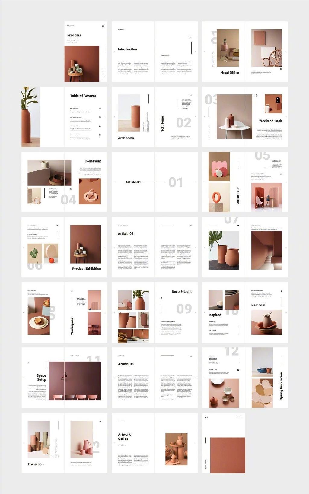 作品集没思路?上百种图文排版案例给你参考