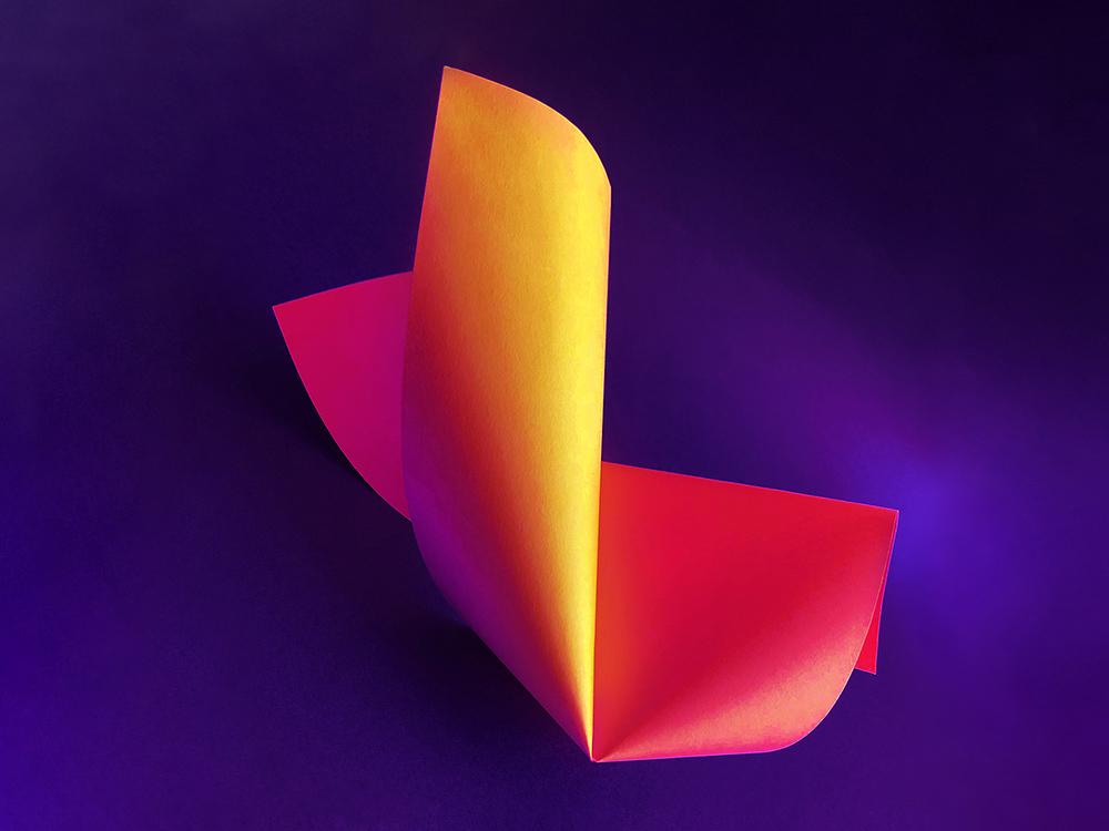随心折纸!36款创意3D字体设计