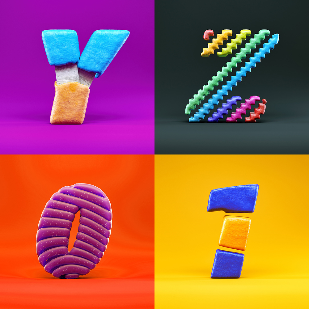 鲜明质感!36款趣味立体字体设计