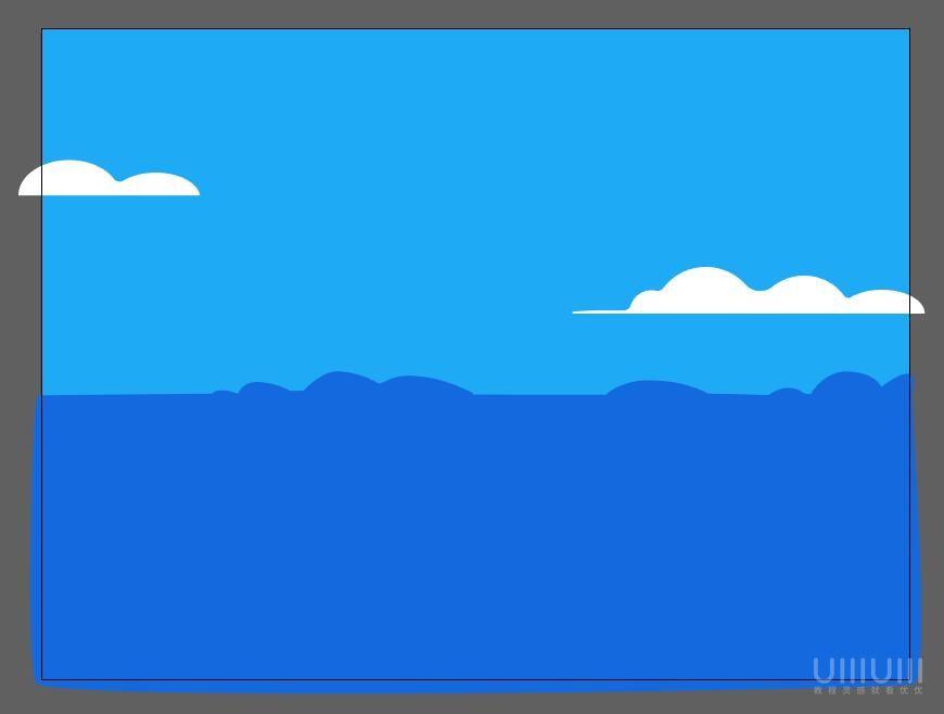 AI教程!噪点质感扁平风景插画!