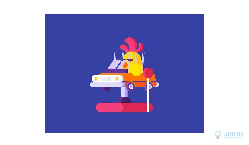 AI+AE教程!可爱的小鸡摇摇车动效!