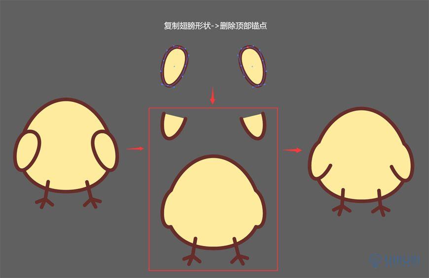 AI教程!教你绘制可爱玩偶贴纸插画!