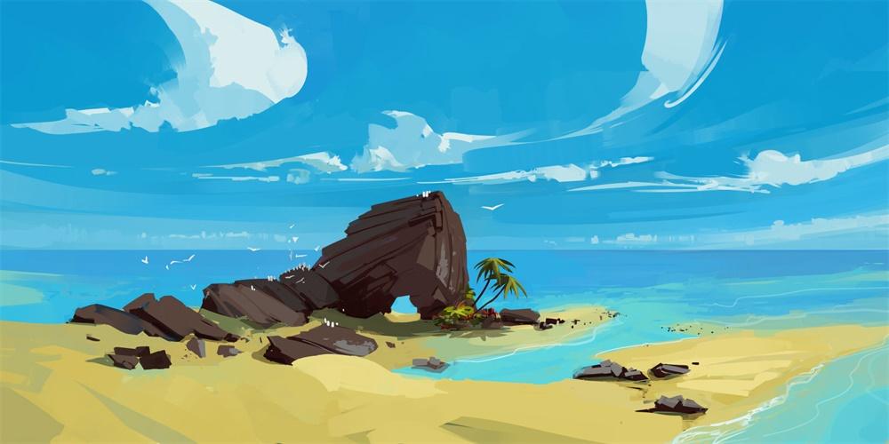 定格瞬间!配色简洁舒心的景观插画