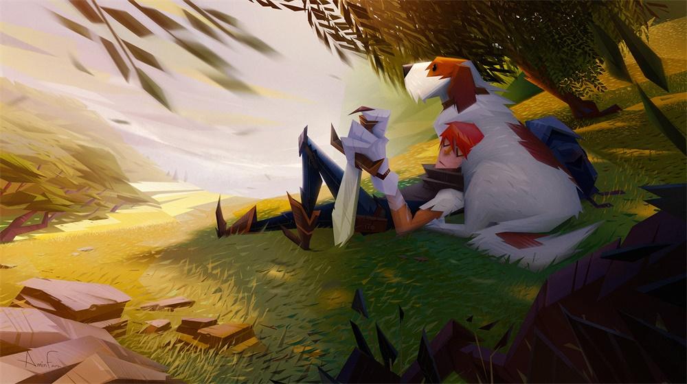 美式卡通风!12款极具风格化的游戏插图