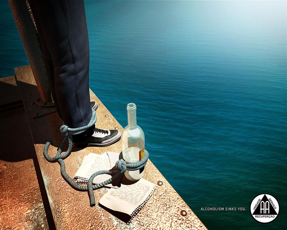 酗酒危害!12张Alcoholics Anonymous公益海报设计